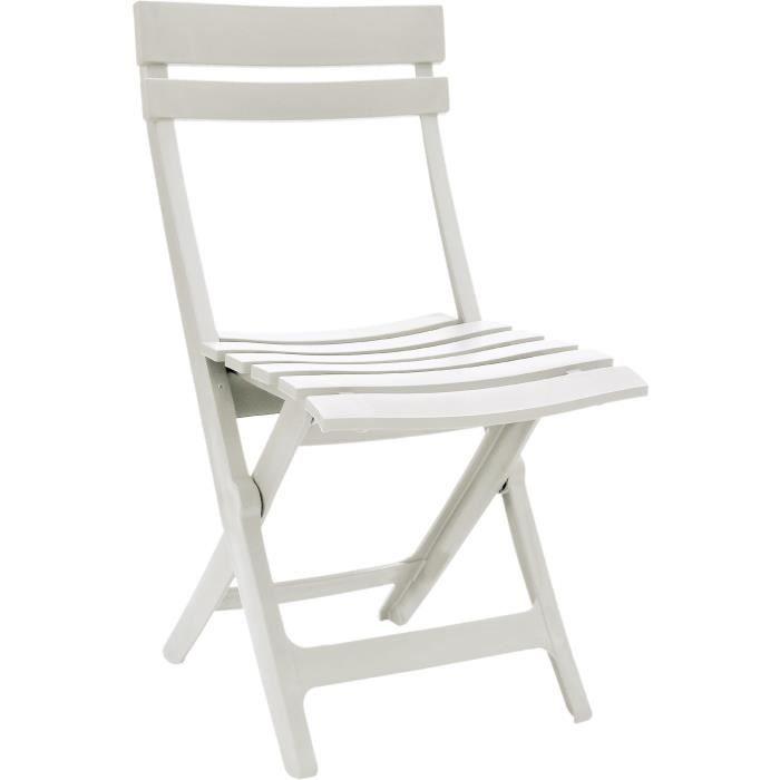 GROSFILLEX Chaise pliante Miami - Blanc