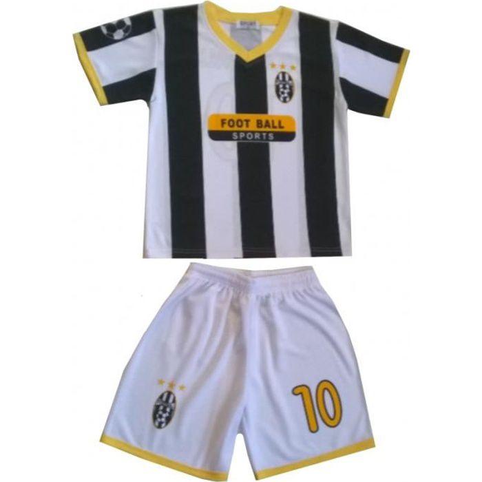 Ensemble de Foot Maillot + Short Enfants pour les supporter de l'équipe de Juventus (2 ans - blanc)