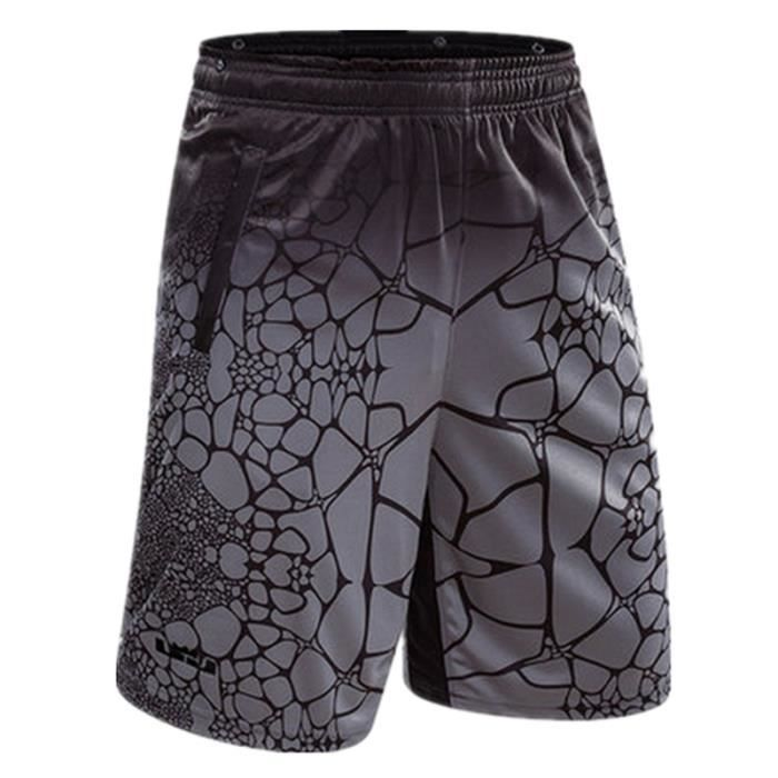 Short Homme Grande Taille Loose Fit Taille Élastiquée Basket-ball Casual Sports Homme
