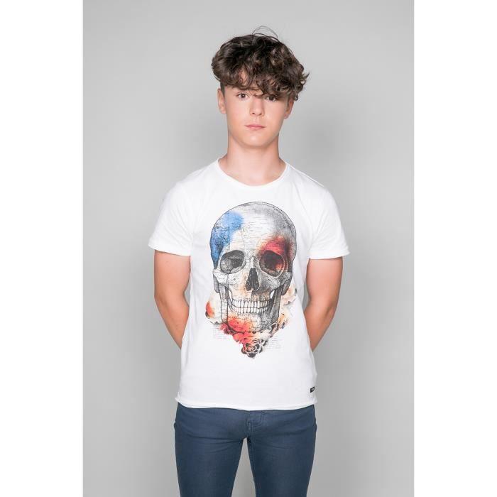 T-shirt avec tête de mort JACKY - Couleur - Natural, Taille - 12