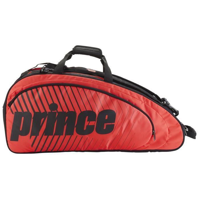 Sac de tennis Prince Tour Future 6R Rouge / Noir - Couleur:Noir Type Thermobag:6 raquettes
