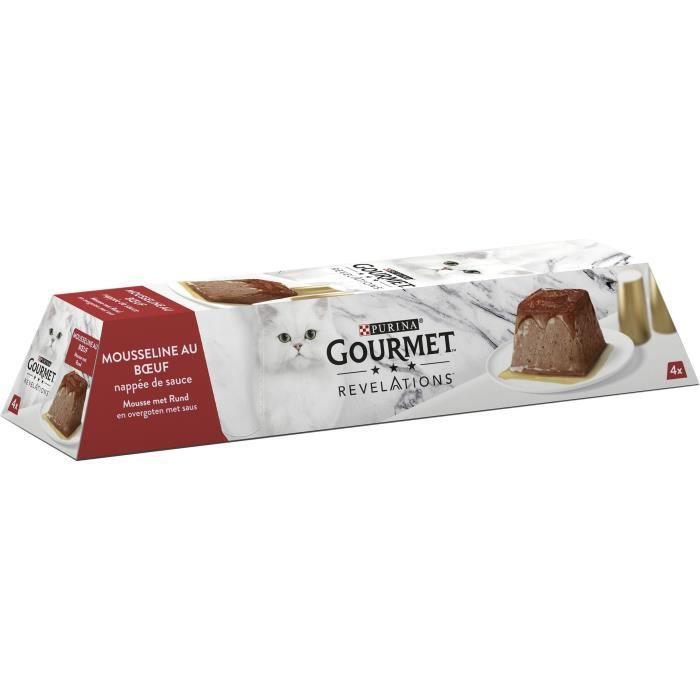 PURINA GOURMET™ REVELATIONS™ Mousseline au Bœuf nappée de sauce - 4 x 57 g