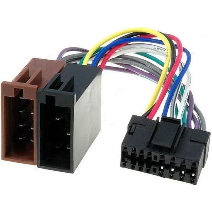 Câble adaptateur connecteur faisceau ISO pour autoradio SONY 16 pin