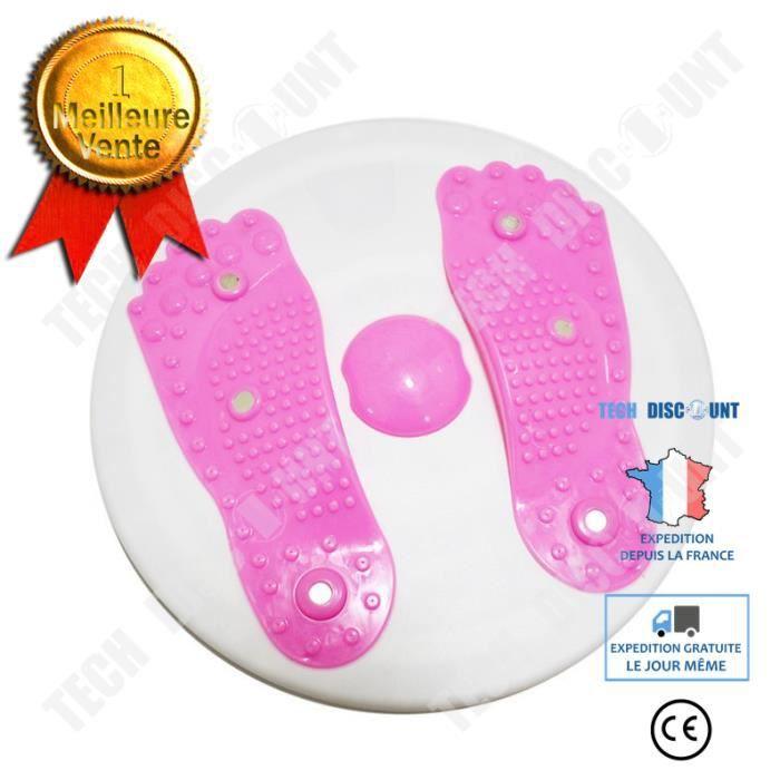 TD® Appareil de fitness de machine de torsion Massage magnétique de réduction de torsion rouge