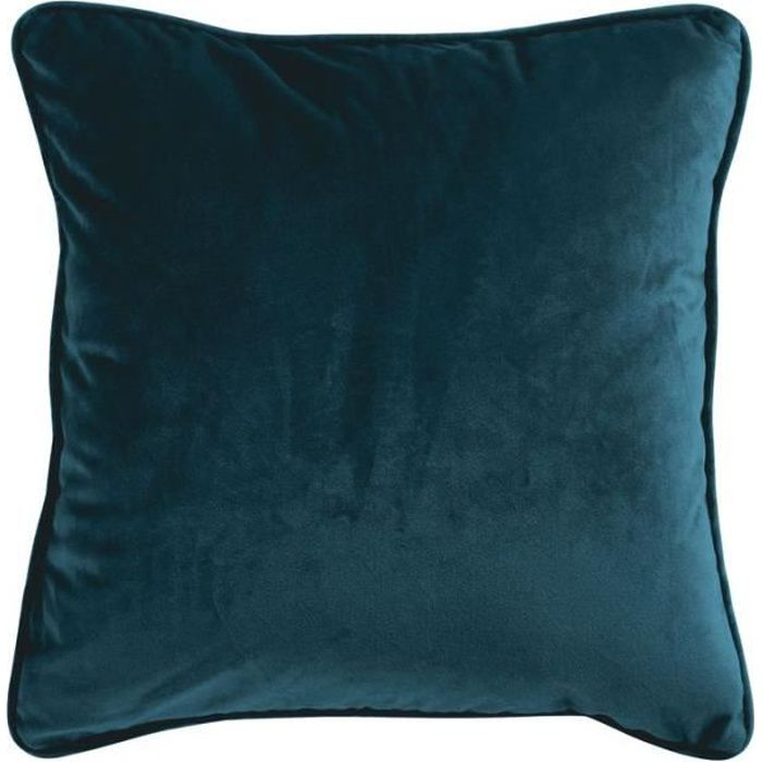 VELOURS - Coussin en velours bleu intense 40x40