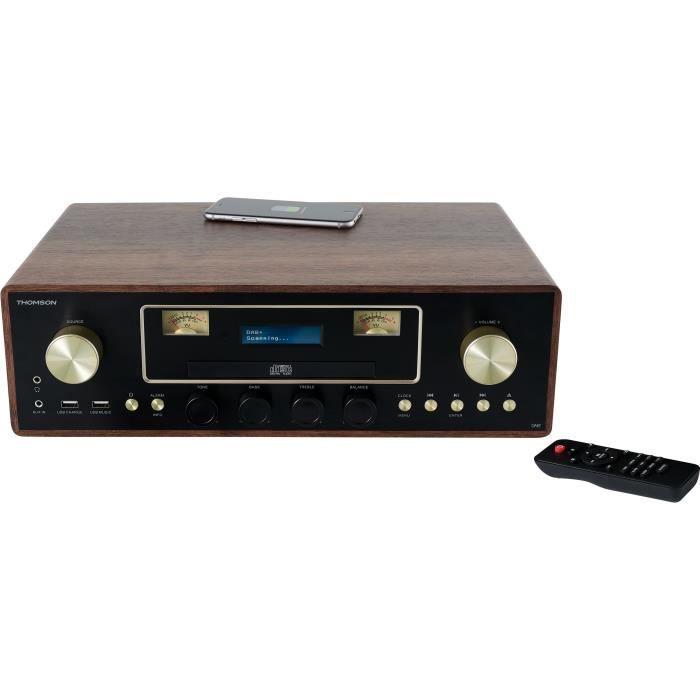THOMSON MIC256IDABBT - Micro-chaîne CD/MP3/USB/DAB+ - 75W - Bluetooth - 30 stations - Chargeur sans fil induction