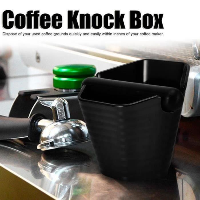 GB09865-DILWE-Boîte à Frapper à Café Seau à Café Moulu Antidérapant Style Hexagonal avec Barre de Frappe Ménage Noir-LAT