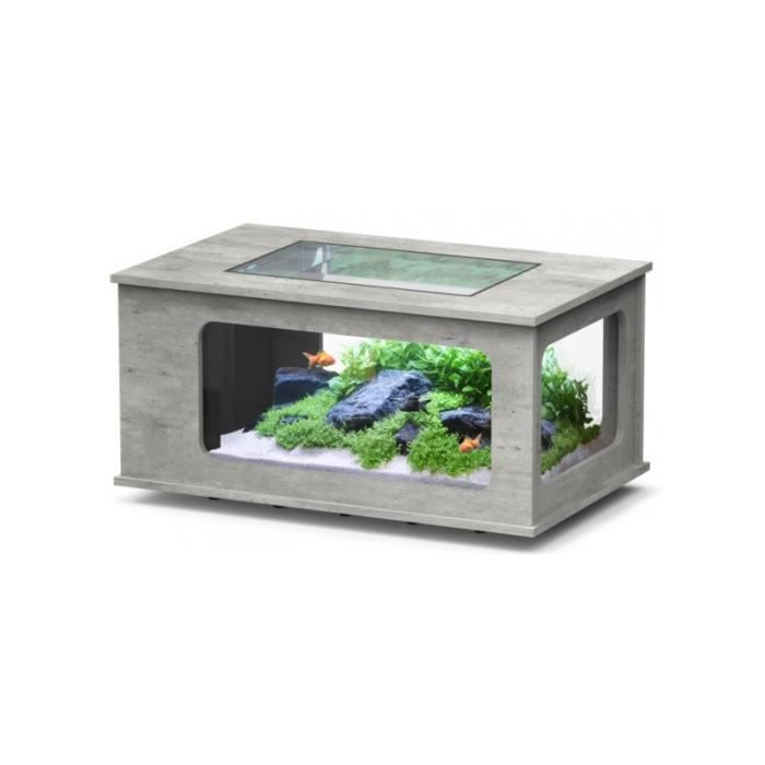 Aqua table led 100x63 beton achat vente table basse - Aquarium table basse de salon ...