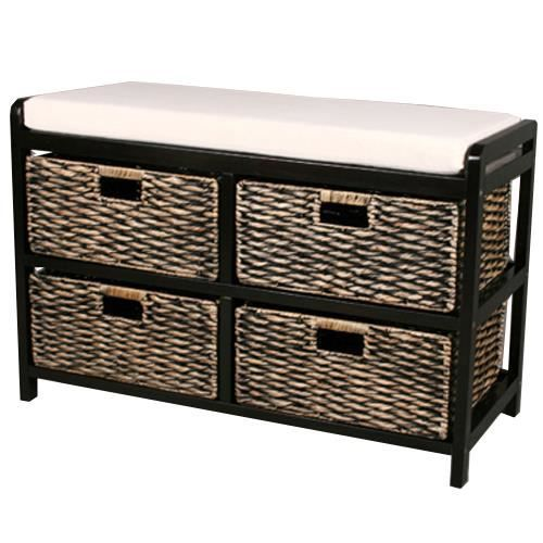 canterbury banc de rangement 4 paniers marr achat vente petit meuble rangement. Black Bedroom Furniture Sets. Home Design Ideas