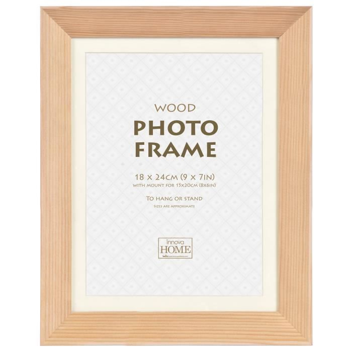 CADRE PHOTO Cadre photo Deep Set - Bois - 18 x 24 cm - Naturel