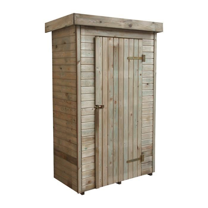 armoire de rangement en bois santiago achat vente etabli meuble atelier cdiscount. Black Bedroom Furniture Sets. Home Design Ideas