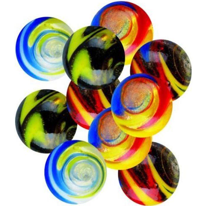 KimPlay Billes en verre SPEEDY 25 mm x10