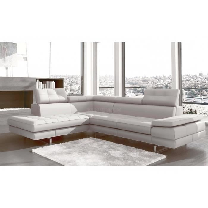 canap d 39 angle en cuir italien 6 places moda achat vente canap sofa divan soldes d. Black Bedroom Furniture Sets. Home Design Ideas