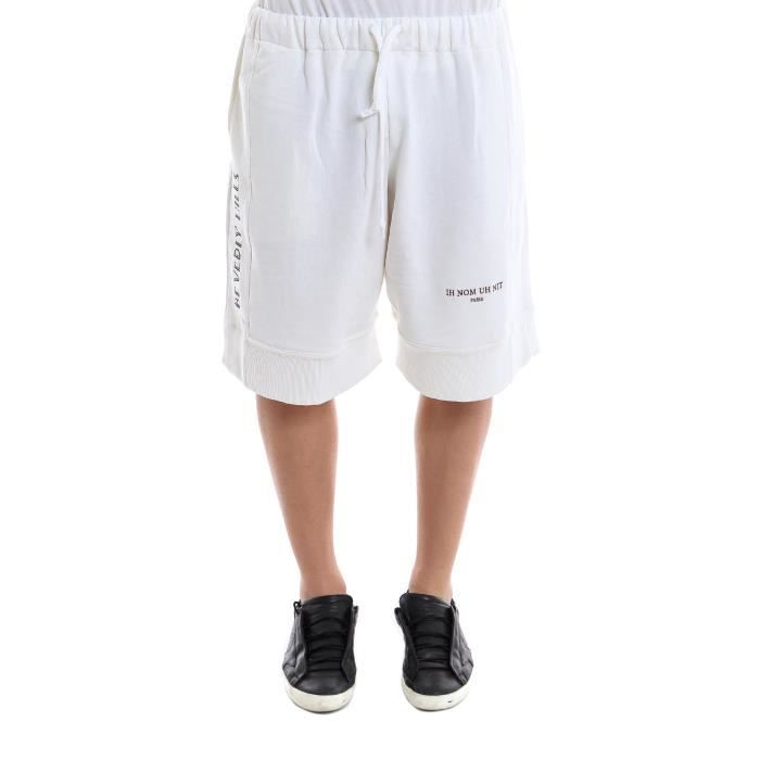 Coton Nous18303081 Shorts Nom Uh Ih Nit Homme Blanc m8vn0Nw