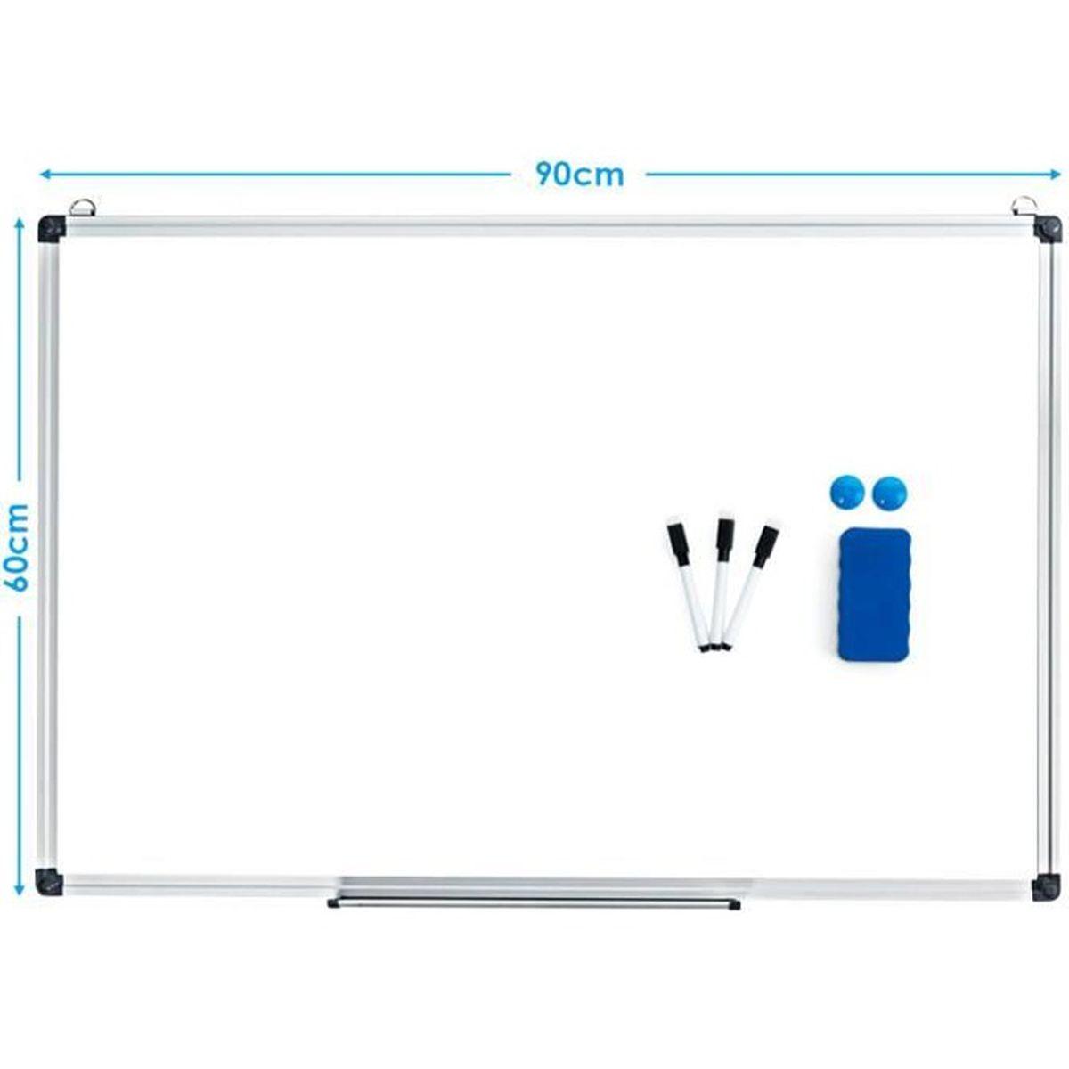 Lot de 4 supports magn/étiques pour marqueurs avec 4 gommes magn/étiques r/églables pour tableau blanc