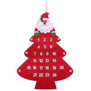 SAPIN - ARBRE DE NOËL Père Noël Noël Calendrier de l'Avent Suspendu Arbr