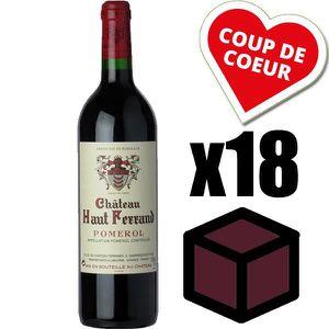 VIN ROUGE X18 Château Haut Ferrand 2009 Rouge 75 cl AOC Pome