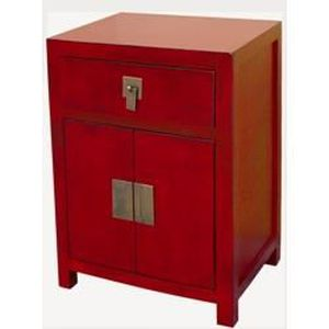 Table de chevet rouge achat vente table de chevet - Table de chevet rouge ...