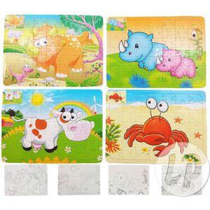 PUZZLE puzzle 49pcs animaux & coloriage mix