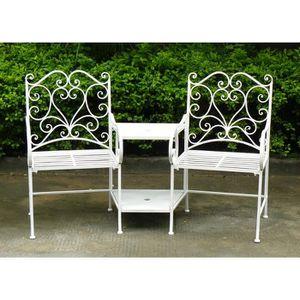 FAUTEUIL JARDIN  Bentley - Ensemble chaises et table intégrée - fer