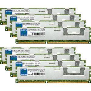 MÉMOIRE RAM 32Go (8 x 4Go) DDR3 1333MHz PC3-10600 240-PIN ECC