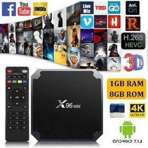 BOX MULTIMEDIA SHA X96mini Android 7.1.2 Décodeur Stream tv Box a