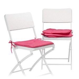 COUSSIN DE CHAISE  Relaxdays Galette de chaise avec boucles coussin d