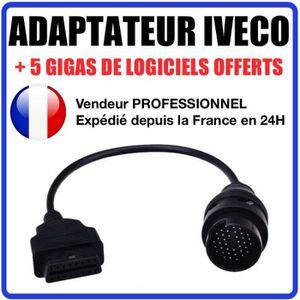OUTIL DE DIAGNOSTIC Adaptateur OBD2 vers IVECO DAILY 38 BROCHES - DIAG