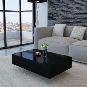 TABLE BASSE Table basse Haute brillance Noir