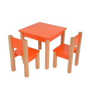 TABLE ET CHAISE Table d'enfant avec 2 chaises - 3 pièces Set: tabl