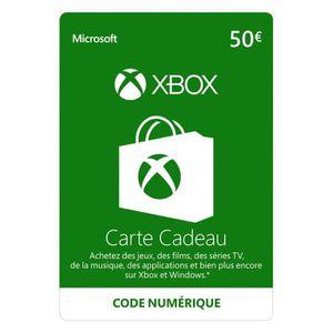 CARTE PRÉPAYÉE KO - Code Xbox Live 50€