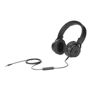 CASQUE AVEC MICROPHONE HP Casque stéréo - Stereo Headphone H3100 - Noir