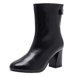 de Verni Meilleure Mode en Cuir Plate Cuir Femme en Bottine Vente Martin Bottes Bottes Chaussures Verni Bottes Cheville Pluie srhQtd