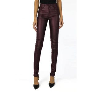 8b437f32596ae JEANS Jeans Simili cuir Push Up Femme Bordeaux