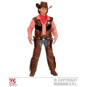 DÉGUISEMENT - PANOPLIE Déguisement cowboy garçon simili cuir marron