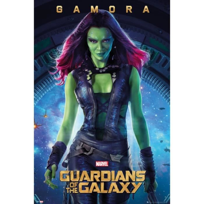 les gardiens de la galaxie poster gamora 91 achat vente affiche cdiscount. Black Bedroom Furniture Sets. Home Design Ideas