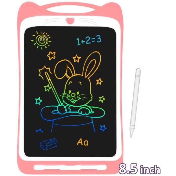 """Tablette d'Ecriture LCD Enfant 8.5"""" Ardoise Magique Coloré Planche à Dessin avec Stylet Tablette Graphique Effaçable Bouton de"""