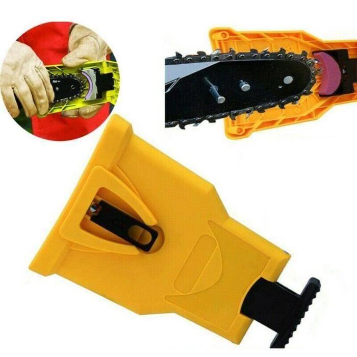 Affûteuse de dents pour tronçonneuse Outil de système d'affûtage de chaîne PowerSharp pour scie à chaîne