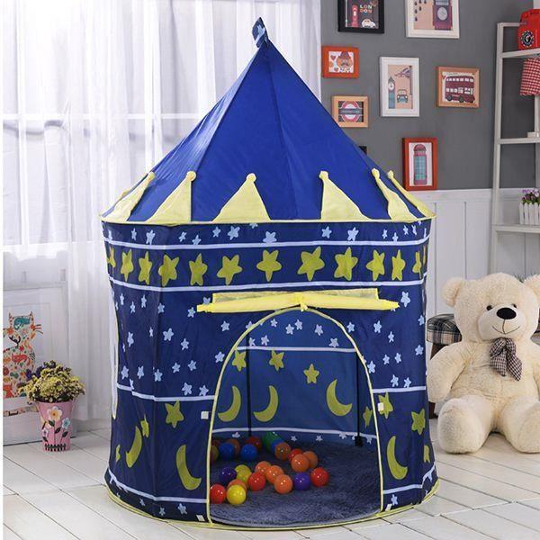 Jeu portable tente pour enfants enfants intérieur extérieur piscine à balles océanique pliable petit jouet château chambre d'enfants