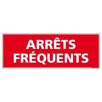 Arrêts Fréquents - Adhésif Rétroréfléchissant Magnétique - Dimensions 500x150 mm - Rouge