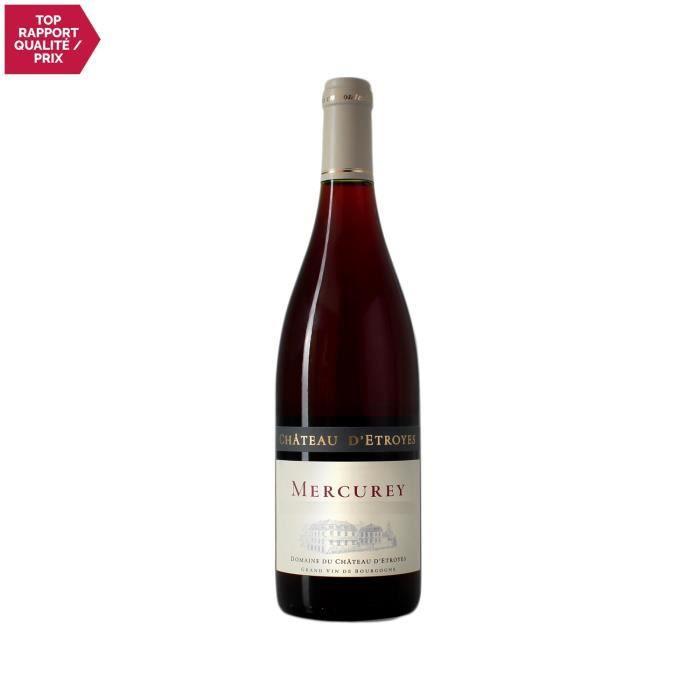 Mercurey Rouge 2018 - 75cl - Château d'Etroyes - Vin AOC Rouge de Bourgogne - Cépage Pinot Noir