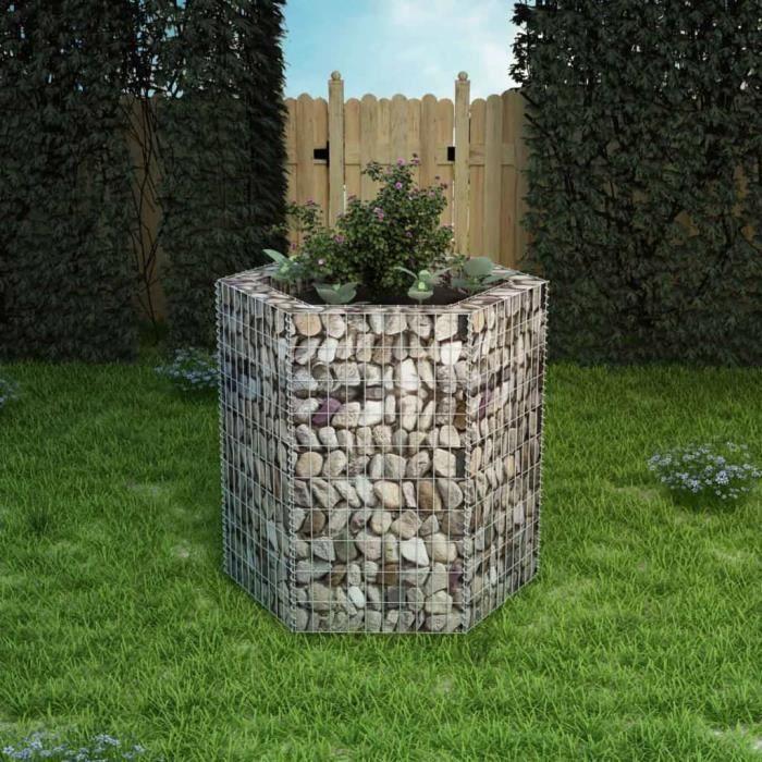 ZO5098Haute qualité- Jardinière à gabion Professionnel Décor - Bac Jardinière Potagère Balcon Terrasse - Mur en gabion Cage à Pierre