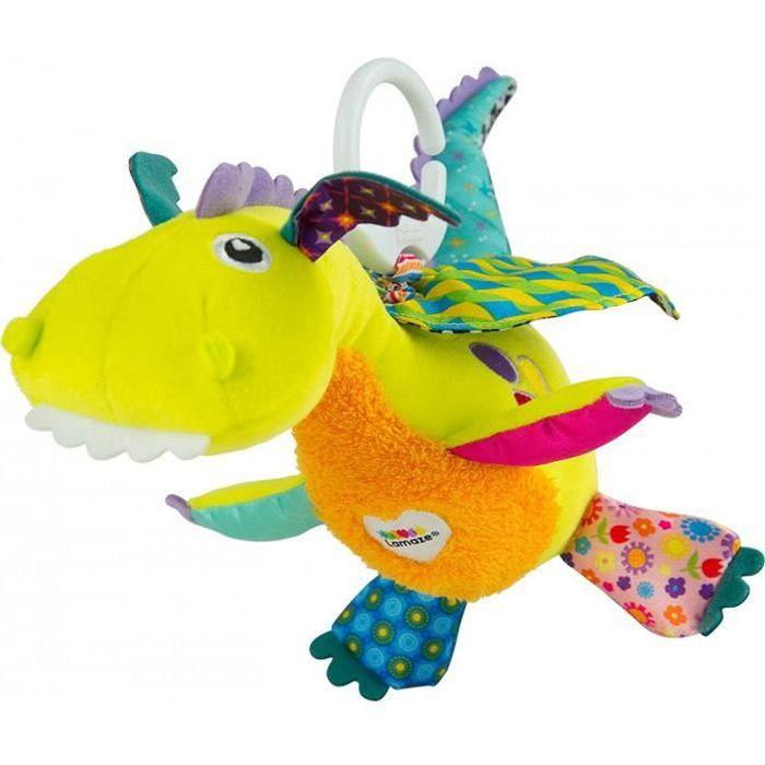 Tomy Lamaze - Peluche Bébé Flip Le Dragon L27565, Peluche D'Activités À Clip Pour Berceau Ou Poussette, Jeu D'Éveil Bébé, Jouet Éduc