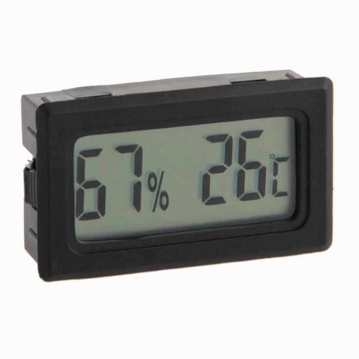 Digital LCD Thermomètre intérieur Température Humidité MeterMini New hygromètre Temp outil Noir