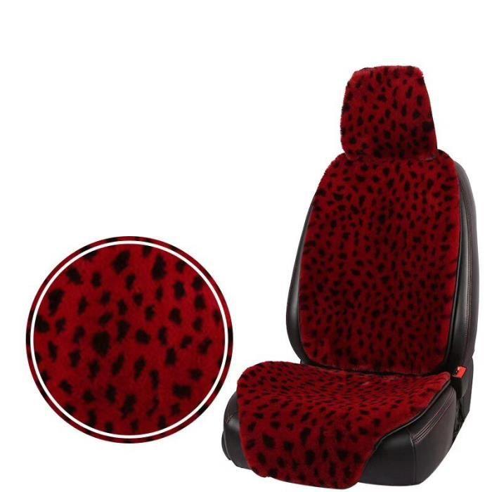Housses de siège universelles pour véhicule, couvre siège, en fourrure, pour l'hiver, couvre siège, 1 seat red