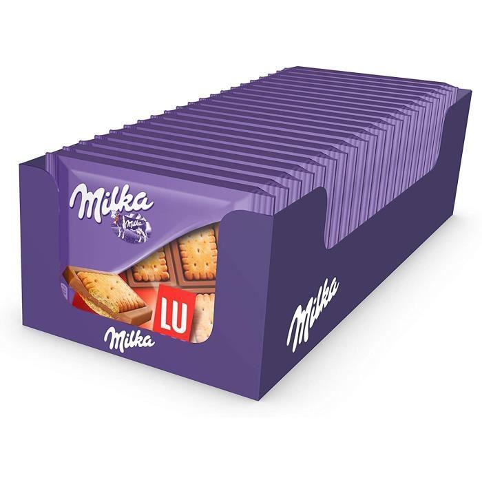 Milka - Mini tablettes chocolat au lait et au biscuit LU-Pack de 20 mini tablettes (35g)