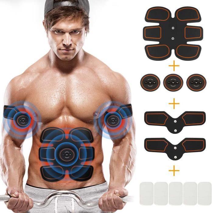 Fitness Appareil EMS électrostim Musculation Abdominaux Bras Cuisses Entraînement pour Femmes Hommes