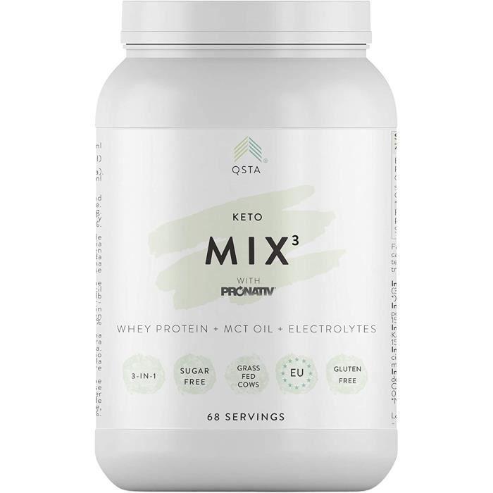 Keto Pro Fit MIX 3-en-1 (68 PORTIONS) - Substitut de repas, Proteine pour maigrir, Repas minceur, Whey Protéine Hydrolysée + MCT Oil