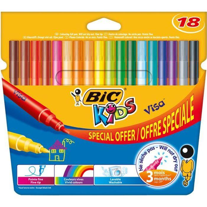 BIC Feutres de coloriage BIC kids visa offre speciale x18