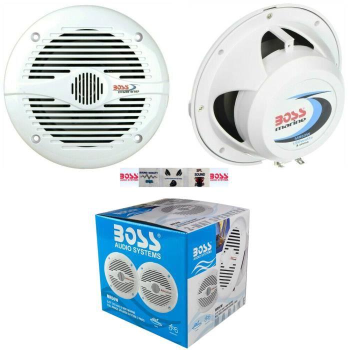 2 BOSS AUDIO MR50W haut-parleurs marins 2 voies 5,25- 13,50 cm 135 mm 75 watts rms 150 watts max bateau piscine étanche, par paire